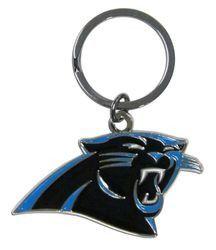 Carolina Panthers Chrome Logo Cut Keychain