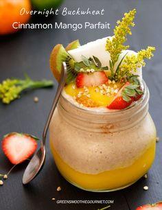 Cinnamon Overnight Buckwheat Mango Parfait