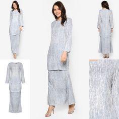 Fesyen Trend Terkini November 2016 Baju Kurung Moden Yazmein Grey By Butik Sireh Pinang | Baju Raya 2017