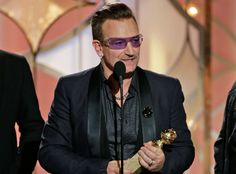 Bono winner at the Golden Globes in 2014