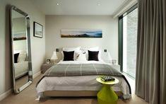 Роскошные шторы в спальной комнате