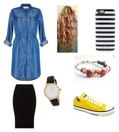 """""""Sooo cute"""" by abbacaddaba18 ❤ liked on Polyvore featuring Miss Selfridge, Converse, Kate Spade and Mat"""