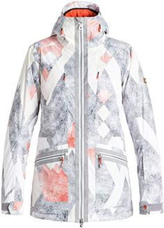 Shop a great selection of Roxy SNOW Junior's Torah Bright Ascend Tailored Fit Snow Jacket, Frozen Mountain, M. Find new offer and Similar products for Roxy SNOW Junior's Torah Bright Ascend Tailored Fit Snow Jacket, Frozen Mountain, M. Roxy Ski, Torah Bright, Snowboarding Women, Winter Outfits Women, Outdoor Outfit, Jackets Online, Ladies Dress Design, Ideias Fashion, Raincoat