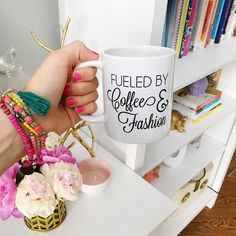 "FLASH SALE  Snag our ""coffee and fashion"" mug (normally $17) for only $12 plus shipping! Just comment SOLD and your email address & your country! We will send you a PayPal invoice. Invoices left unpaid after 24hrs will be cancelled  @liketoknow.it http://liketk.it/2oDNL #liketkit #thetrendysparrow #coffeeandfashion"