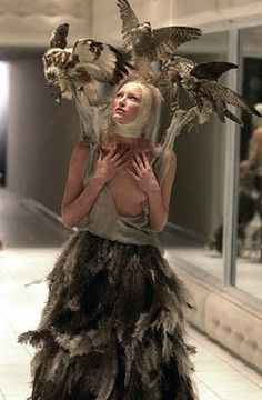Getting carried away during Voss SS01 Ferocious feathers from FW09