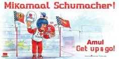 #Amul Topical: #Formula 1 legend recovers miraculously! #KeepFightingMichael #Schumachar #Champ #F1