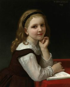 """""""Distraction"""", 1868. William-Adolphe Bouguereau (1825 - 1905), French painter."""