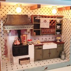 Puffetossansdockhus: The kitchen of the grandmother's cabinet is ready!