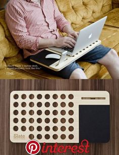 Laser Cutter Projects, Diy Wood Projects, Wood Crafts, Woodworking Projects, Diy And Crafts, Laptop Desk, Laptop Stand, Creation Deco, Ideias Diy