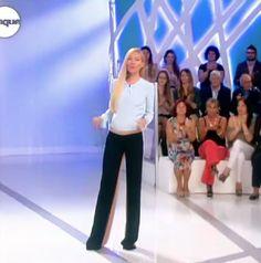 Federica Panicucci indossa il pantalone Ki6? Who are you?