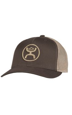 HOOey Men's Cody Ohl Brown with Tan Logo & Mesh Back Cap