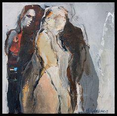 Bernadette Leijdekkers | Mixed media Figure Painting, Figure Drawing, Art Des Gens, Painting Prints, Paintings, People Art, Art Portfolio, Life Drawing, Face Art