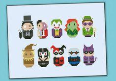 Batman's enemies parody Cross stitch PDF pattern by cloudsfactory, $7.50