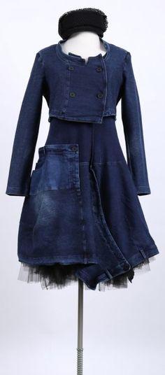 rundholz black label - jeans short jacket original - summer 2015 - authentic - fashion for wo Denim Fashion, Boho Fashion, Winter Fashion, Fashion Dresses, Fashion Design, Fashion Menswear, Fashion Shoot, Urban Dresses, Urban Outfits