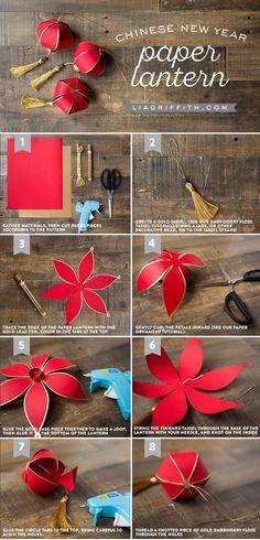 DIY Chinese New Year Paper Lantern                                                                                                                                                                                 More