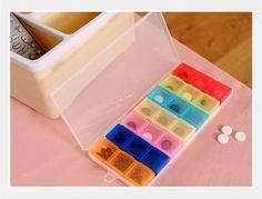 Weekly 7 Days Tablet Pill Box Holder Medicine Storage Organizer Pill Case…