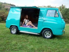 .Nice Early to Mid '60's Ford Econoline Van Great Conversion to side doors...