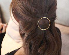 Barrette minimalist dorée clip simple à par AnnieLesperance