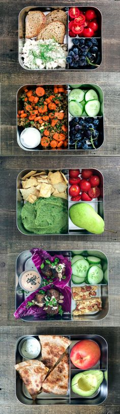 Figure out a lunch meal plan at the beginning of the week.