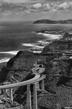Puente de Silva y costa norte de Gran Canaria.