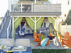 After: Multiple Outdoor Living Areas - 15 Before-and-After Backyard Transformations on HGTV