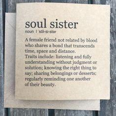 Soul Sister card | Etsy
