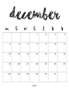 Calendrier Novembre/Décembre à imprimer