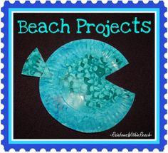 Preschool Fish Painting Bulletin Board Ocean RoundUP #TeachPreschool #PreKandKsharing