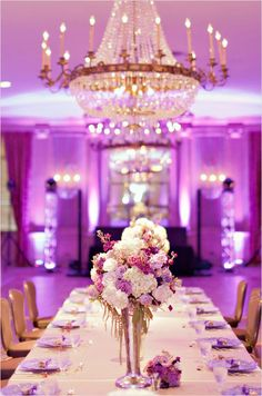 elegant purple weddings and decor