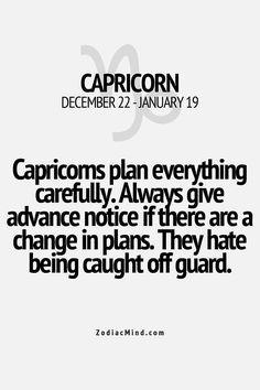 Capricorn have to plan