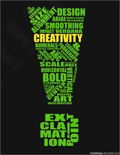 Creativity: Typography by ~MadDesign on deviantART
