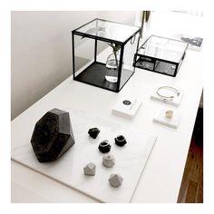 """Showroom #studio #hamburg #madeleineissing #marble #concrete #finejewelery #glass #blackandwhite #diamonds"""