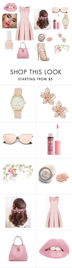 """Go pink"" by nikita-851 on Polyvore featuring Nine West, NAKAMOL, Charlotte Russe and BCBGMAXAZRIA"