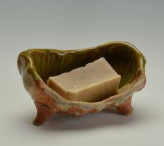 Bathroom Accessories Handmade Ceramic Soap Dish for fine soaps. $28.00, via Etsy.