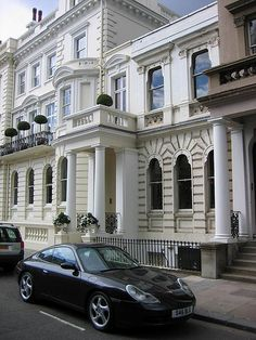 Notting Hill - Victorian houses and German sportscars