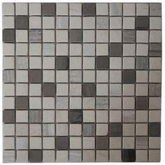 Mozaïek tegel marmer 30x30 cm  Marmersoort: Yawood, Light White ...