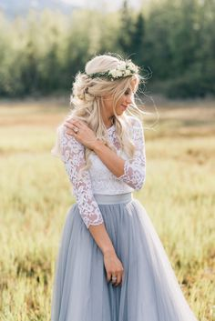 Chloe Maxi tulle skirt and Audrey lace top by Bliss Tulle // Model: Madison Ruby // Photography: Kylee Ann Studios