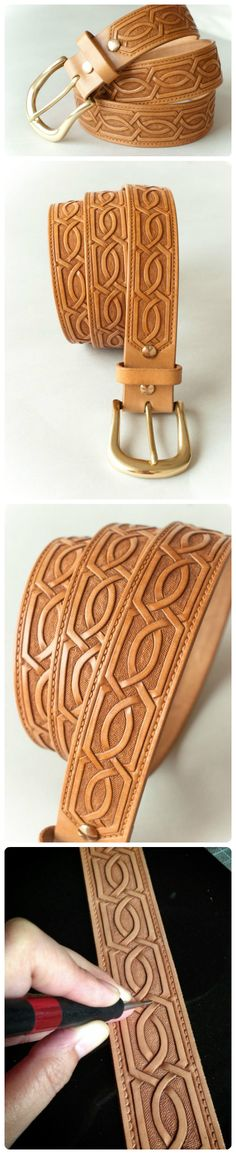 Tooled Leather Belt                                                                                                                                                     More