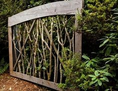 Ashbee Design: Branches Framed ~What a lovely garden gate!