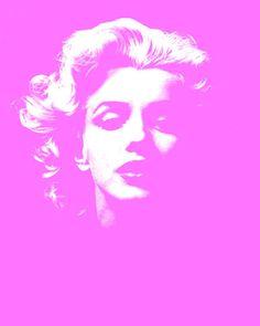 Pink Marilyn Monroe Beautiful Vintage Poster Pop Art Wall Decor Print. via Etsy.