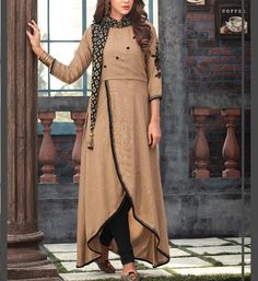 Kurti Designs Party Wear, Kurta Designs, Blouse Designs, Dress Indian Style, Indian Dresses, Indian Wear, Stylish Dresses, Casual Dresses, Casual Wear