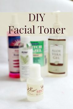 DIY Facial Toner - make it yourself with only ingredients that are amazing for your skin. You'll feel the difference!