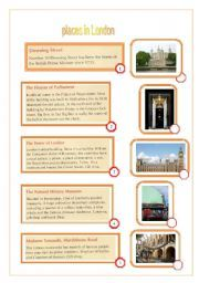 English worksheet: places in London