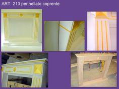 ART. 213 pennellato coprente bianco con particolari oro. Caminetto progettato su misura dal cliente. Misure cm 126x114x20. Spedito a Roma Mirror, Furniture, Home Decor, Rome, Brush Strokes, Decoration Home, Room Decor, Mirrors, Home Furnishings