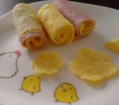 Involtini di prosciutto e uova..  http://www.pianetamamma.it/network/ricette-bambini/involtini-di-prosciutto-e-uova.html