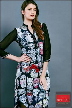 Let the next social do see you fetch second glances from one all wearing this charming dress..... Get this beautiful dress at Options. #Options #Fashion #Juhu #Andheri #Shopping