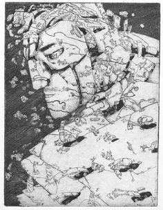 """A medium sized etching of the lead character from my """"The Japanese"""" graphic novels. Thought it would be a good idea to take a shot at making a cove. Take A Shot, Pen And Paper, Printmaking, Samurai, Things To Think About, Japanese, Graphic Novels, Prints, Rest"""