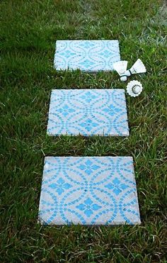 Quick project to add color and texture to your boring cement pavers.