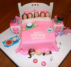 This Cake Was Made For A Slumber Party I Used 9X13 Cut In Half  cakepins.com