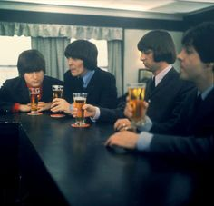 Beatles and beers. Can't beat that.